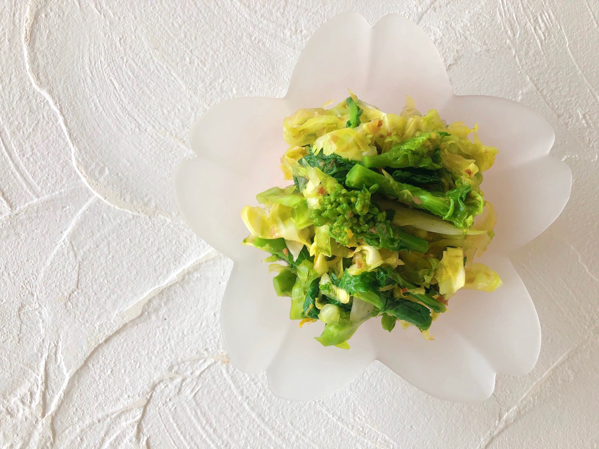 春キャベツと菜の花のおひたしの画像