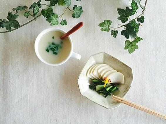 太田みお  春の七草 すずな 蕪の即席漬け 蕪の和風ポタージュ レシピ